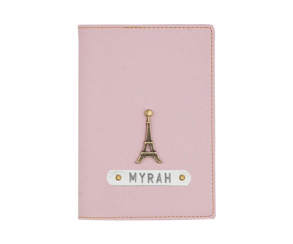 Baby Pink Textured Passport Cover