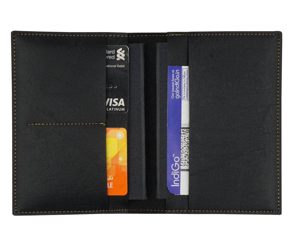 Black Frequent Flyer Passport Cover - The Junket