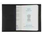 Mr - Black Leather Finish Passport Cover - The Junket