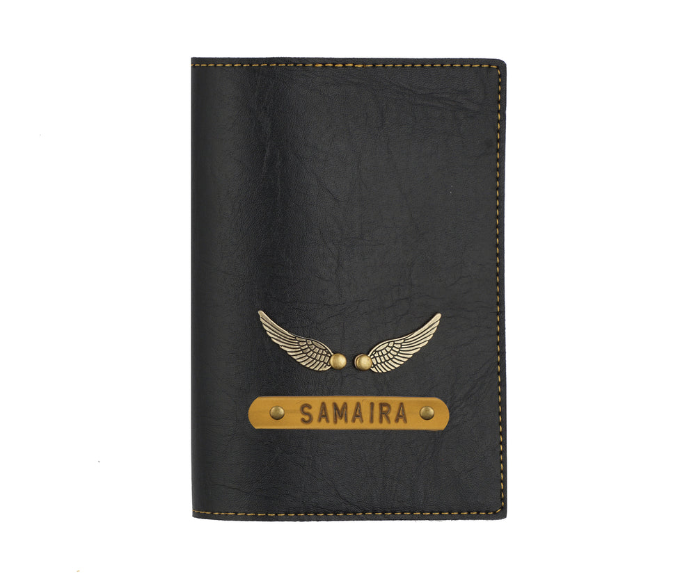 Black Leather Finish Passport Cover