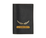 Black Leather Finish Passport Cover - The Junket