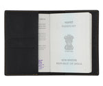 Black Textured Passport Cover