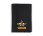Black Textured Passport Cover - The Junket