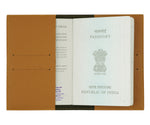 Brown Textured Passport Cover - The Junket