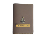 Chocolate Brown Textured Passport Cover
