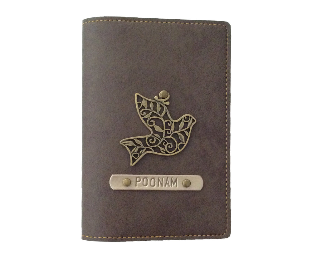 Coffee Leather Finish Passport Cover