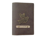 Coffee Leather Finish Passport Cover - The Junket