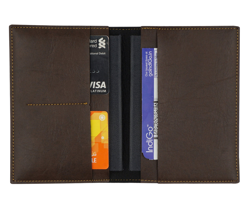 Dark Brown Frequent Flyer Passport Cover - The Junket