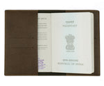 Mrs - Dark Brown Leather Finish Passport Cover - The Junket