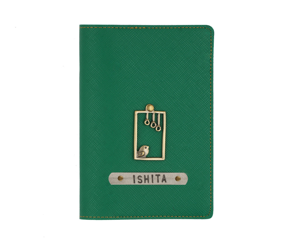 Dark Green Textured Passport Cover