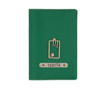 Dark Green Textured Passport Cover - The Junket