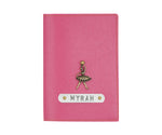 Dark Pink Textured Passport Cover