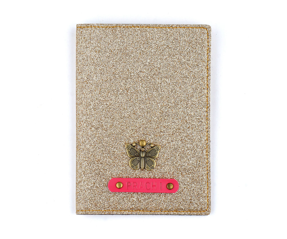 Rose Gold Glitter Passport Cover - The Junket