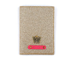 Rose Gold Glitter Passport Cover