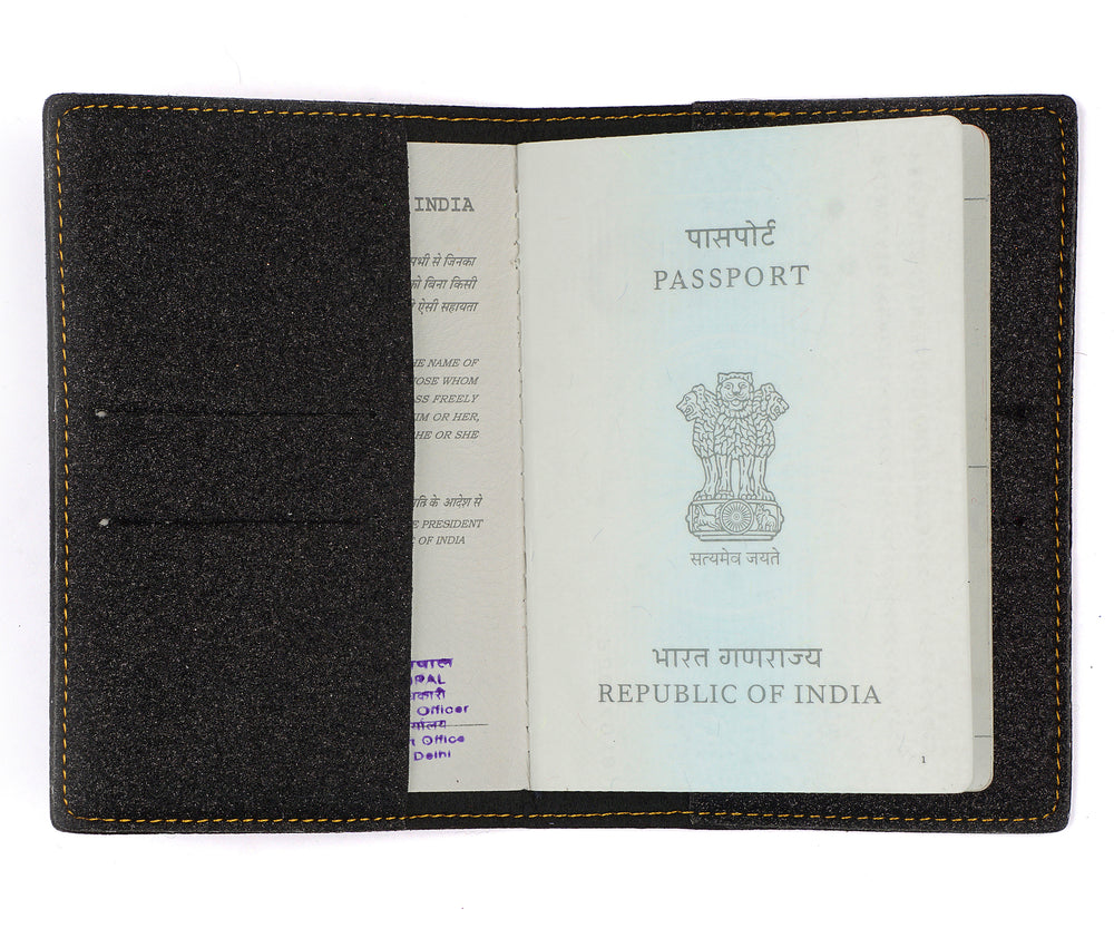 Black Glitter Passport Cover - The Junket