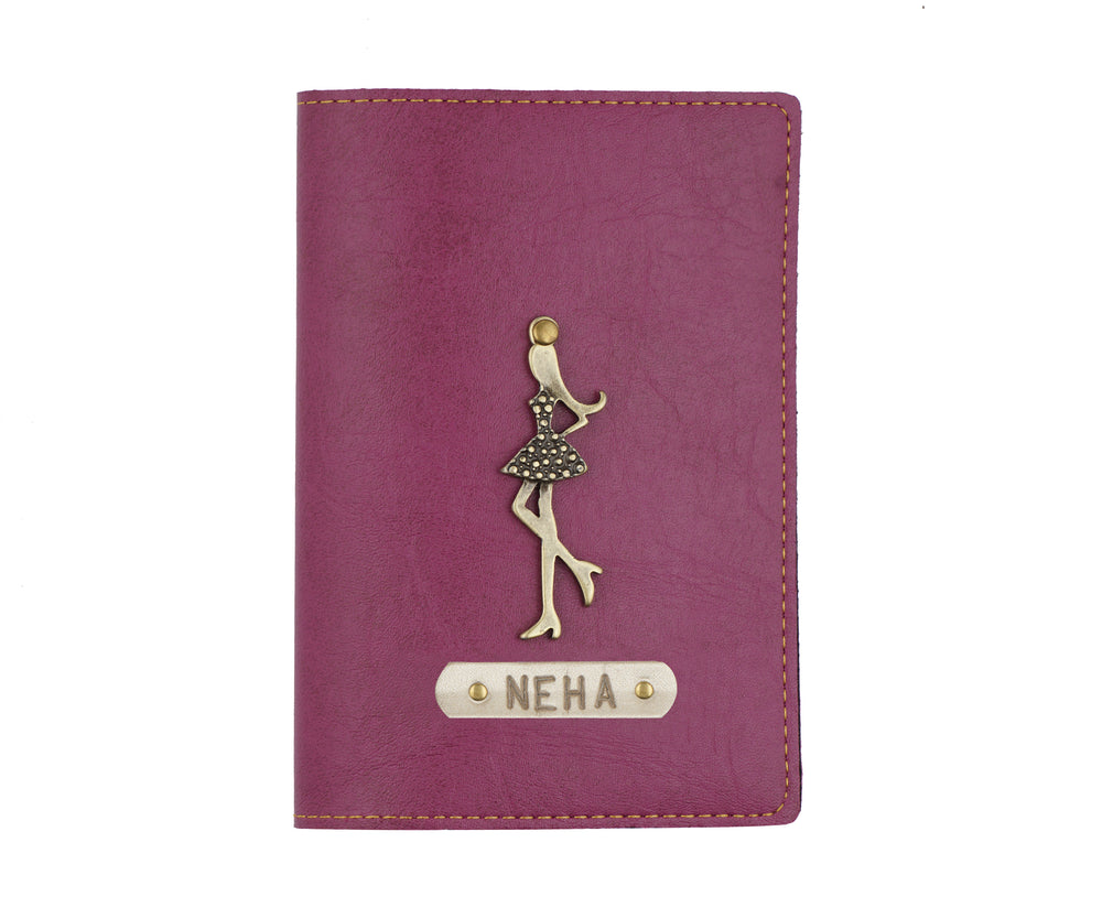 Purple Leather Finish Passport Cover