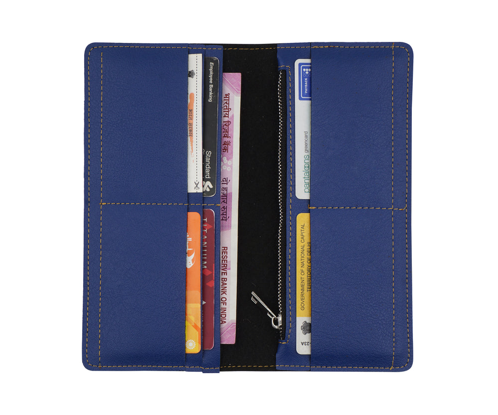 Navy Blue Womens Wallet - The Junket