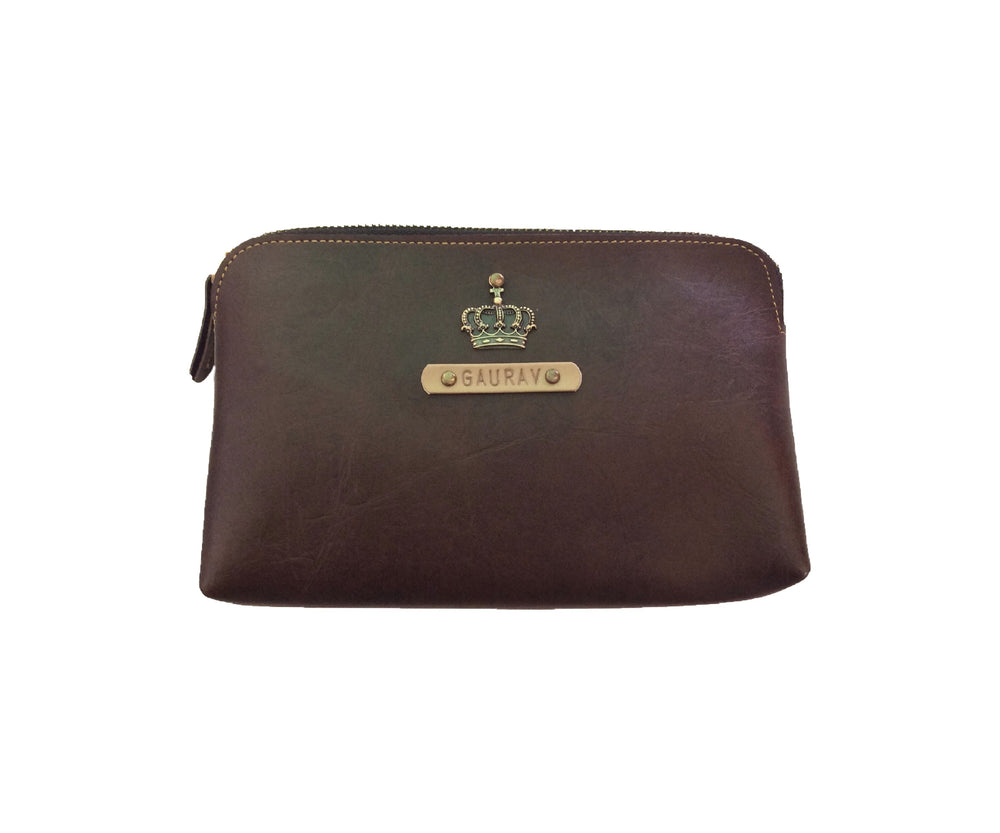 Dark Brown Travel Pouch