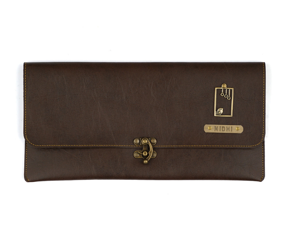Dark Brown Clutch Bag - The Junket
