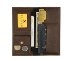 Dark Brown Travel Folder - The Junket