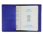 Electric Blue Textured Passport Cover - The Junket