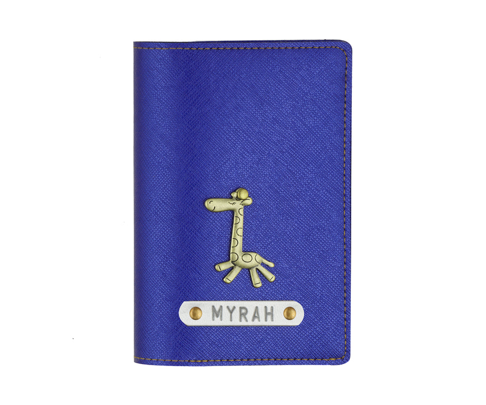 Electric Blue Textured Passport Cover