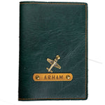 Forest Green Leather Finish Passport Cover