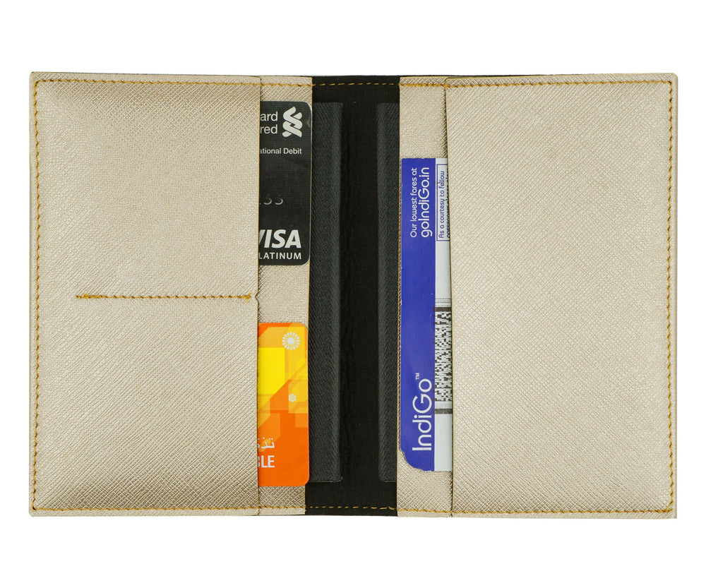 Gold Frequent Flyer Passport Cover - The Junket