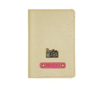 Gold Textured Passport Cover - The Junket