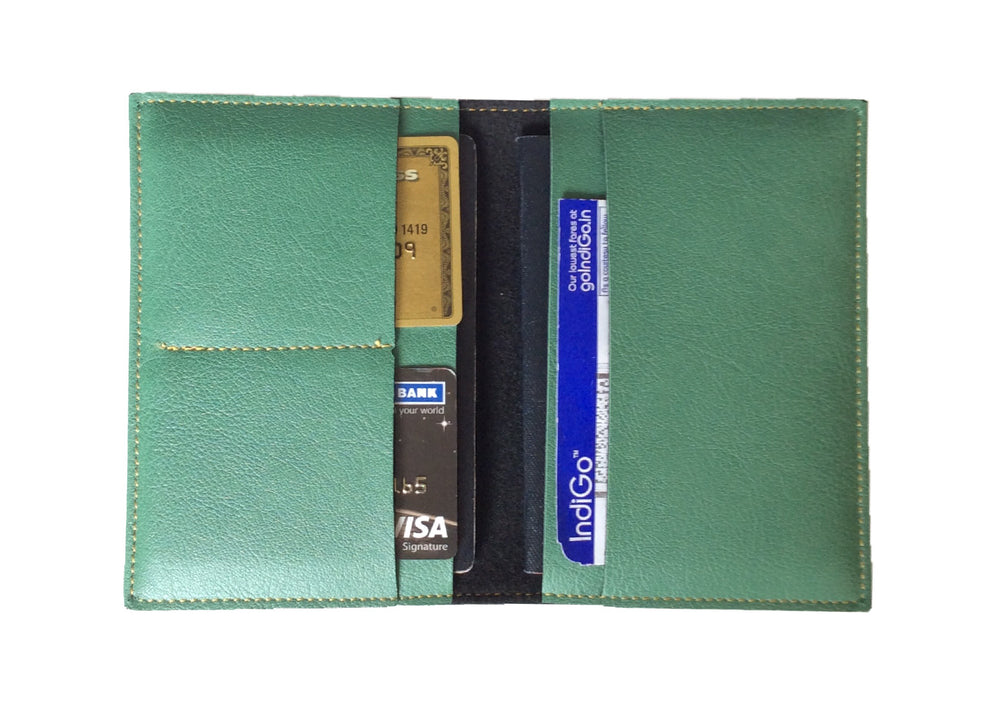 Green Frequent Flyer Passport Cover - The Junket