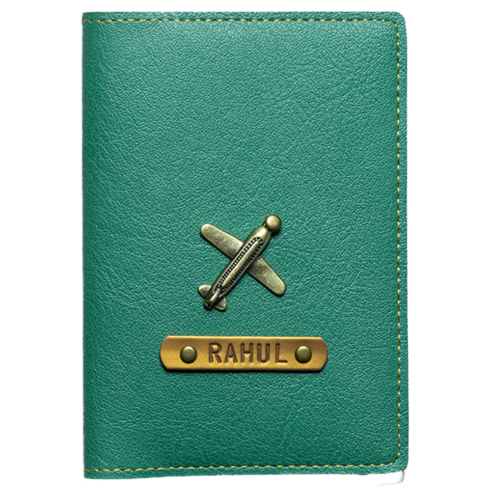 Green Leather Finish Passport Cover
