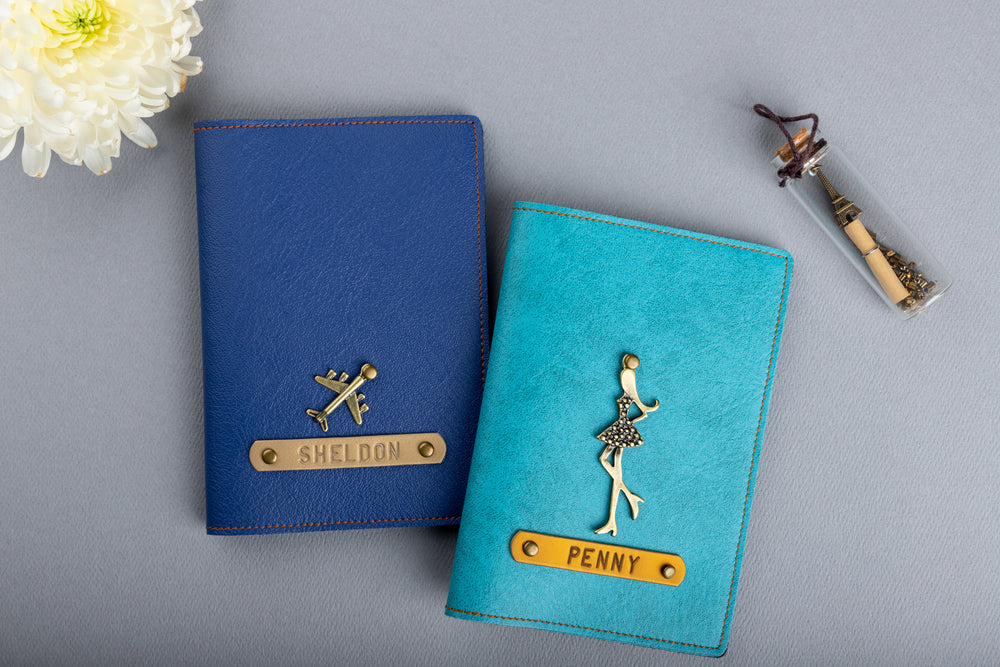 Personalized Couple Passport Covers