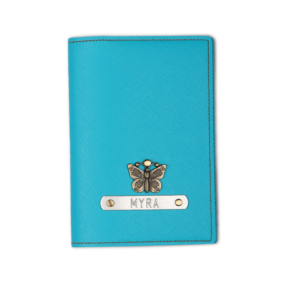 Turquoise Textured Passport Cover - The Junket
