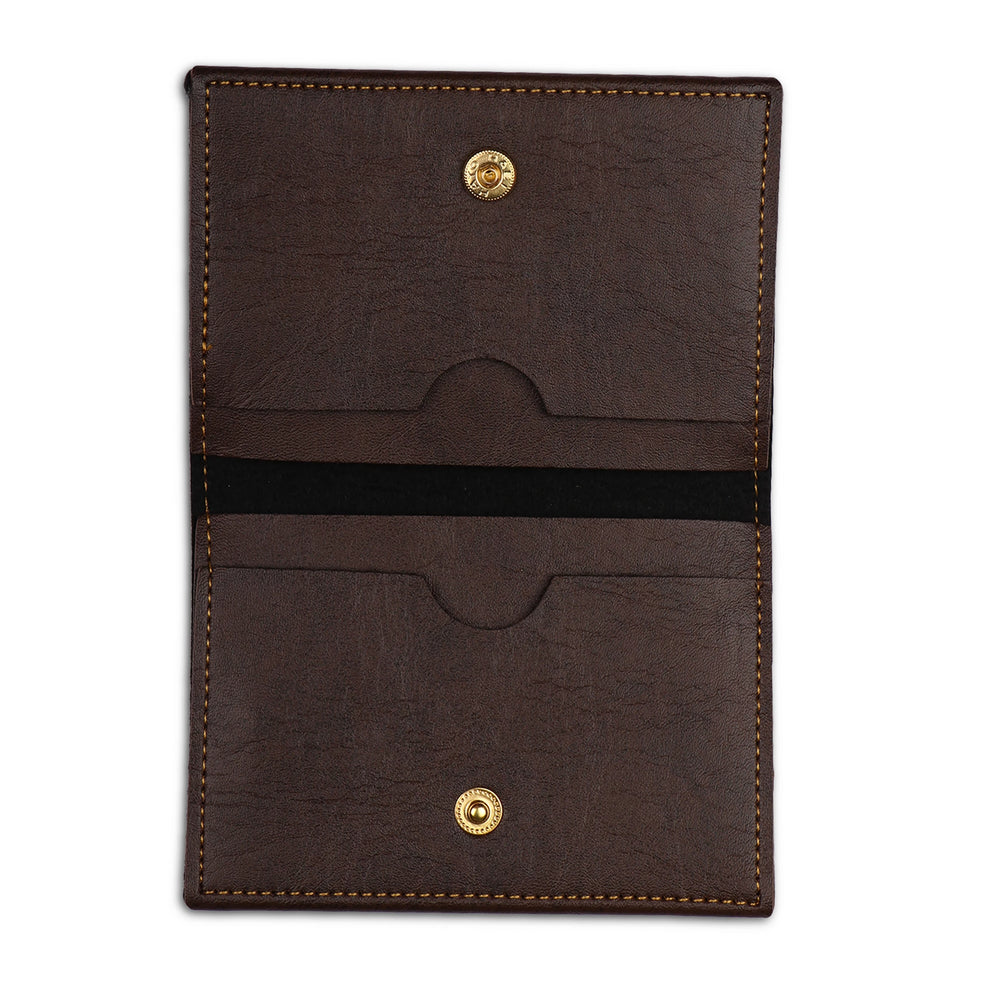 Dark Brown Folding Card Holder - The Junket