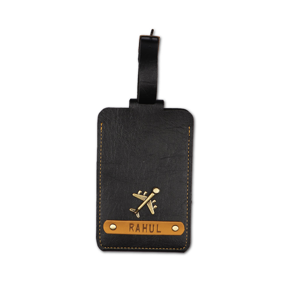 Black Luggage Tag - ID slot