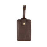 Dark Brown Luggage Tag - ID slot