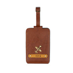 Tan Luggage Tag - ID slot