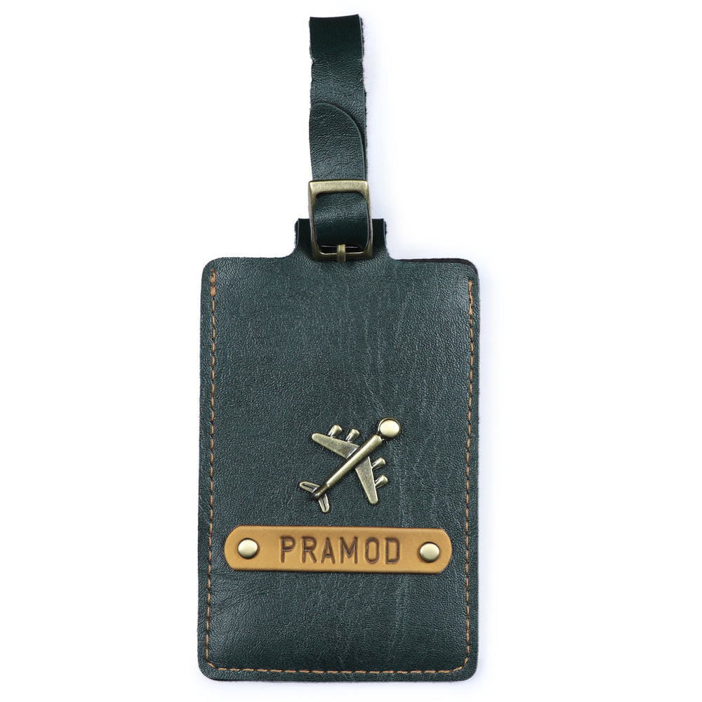 Forest Green Luggage Tag - ID slot