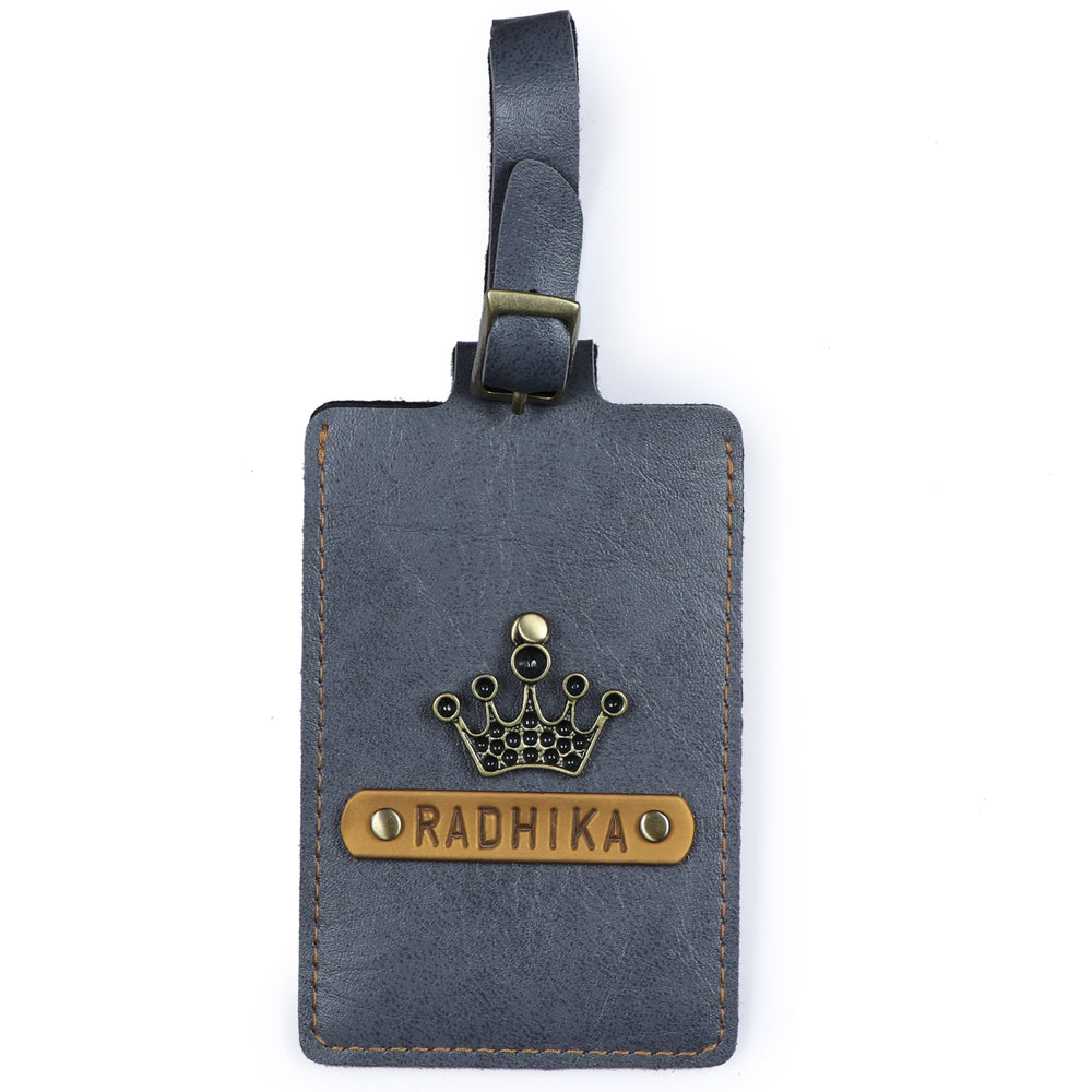 Grey Luggage Tag - ID slot