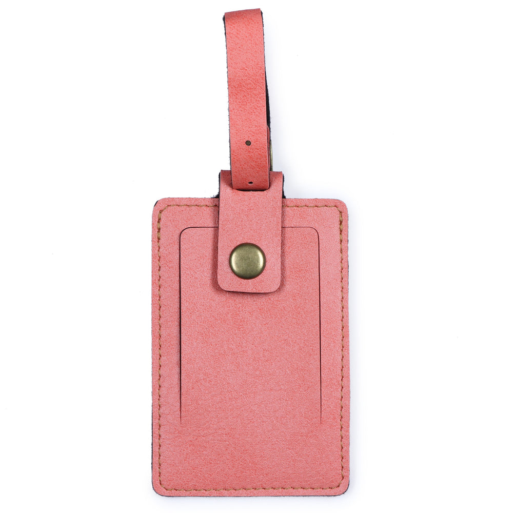 Peach Luggage Tag - ID slot