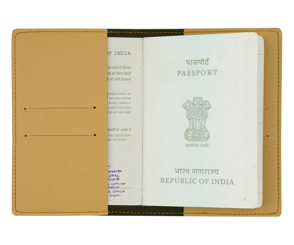 Light Tan Textured Passport Cover - The Junket