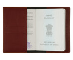 Mrs - Maroon Leather Finish Passport Cover - The Junket