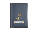 Metallic Blue Textured Passport Cover