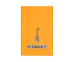 Mustard Textured Passport Cover