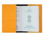 Mustard Textured Passport Cover - The Junket