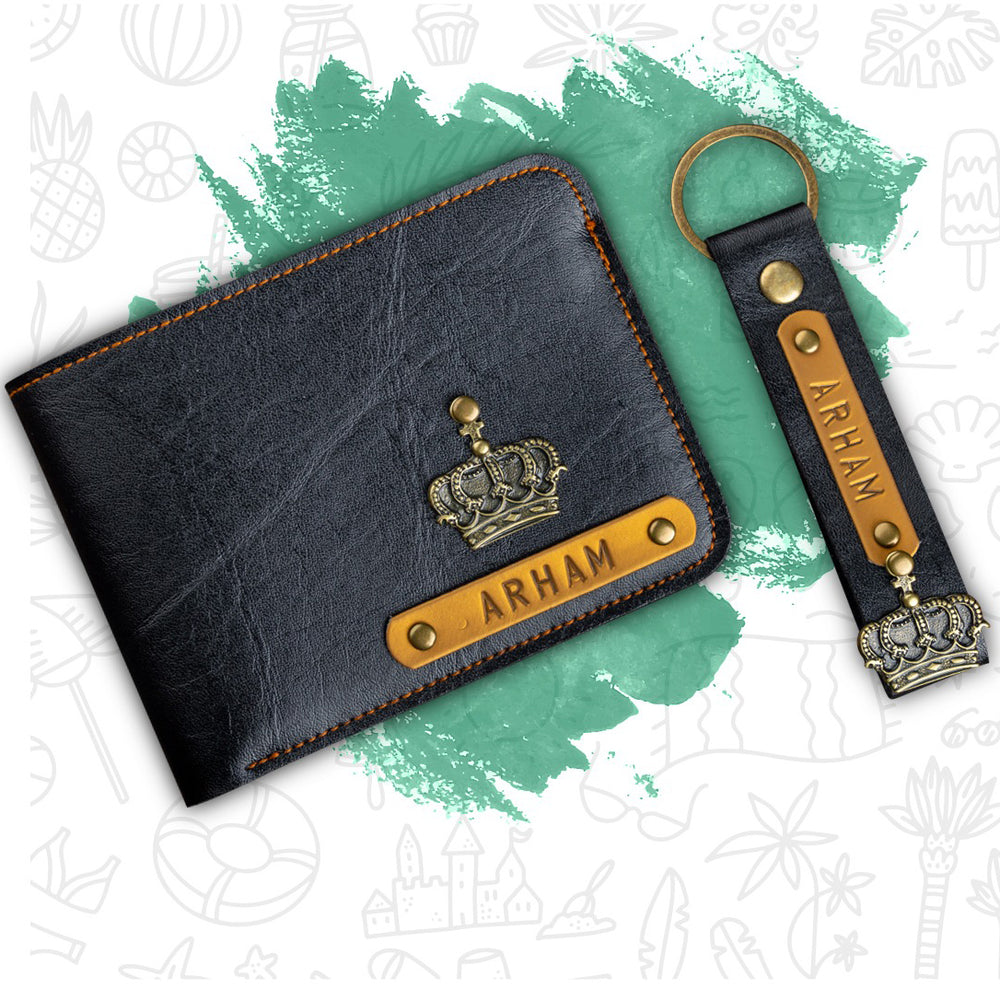 Mens Wallet & Keychain Combo
