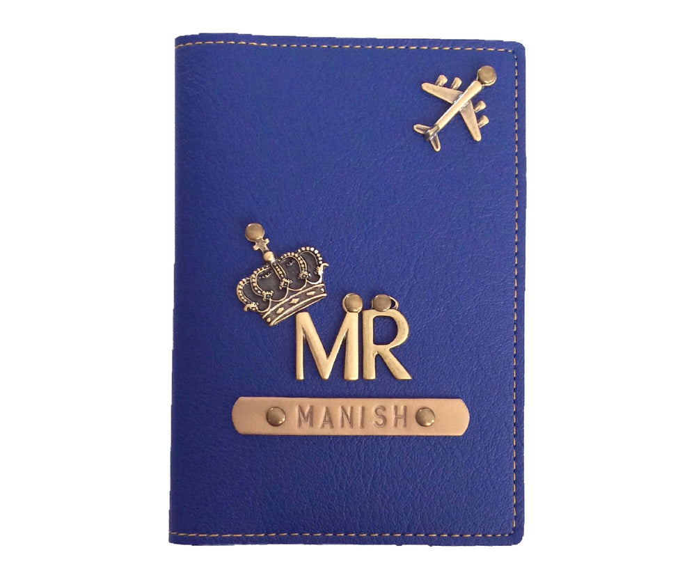 Mr - Navy Leather Finish Passport Cover
