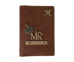 Mr - Tan Leather Finish Passport Cover - The Junket