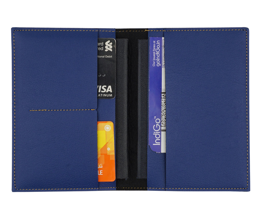 Navy Blue Frequent Flyer Passport Cover - The Junket