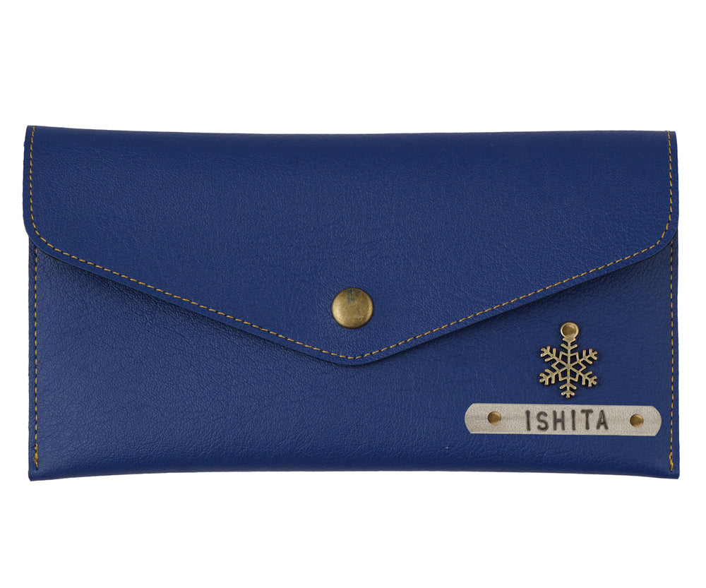 Navy Blue Button Purse